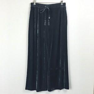 NWT Who What Wear Wide Leg Velour Pants